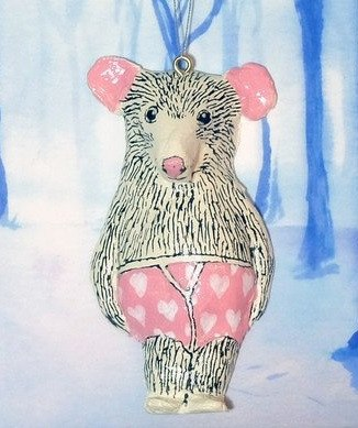 Arthur Mouse Christmas Tree Decoration, Jimbobart
