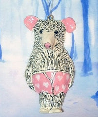 Arthur Mouse Christmas Tree Decoration, Jimbobart Alternate View