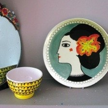 Orange Flower Plate, Katy Leigh