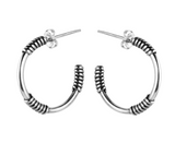 Small Silver Wrap Hoop Earrings, Marcia Vidal