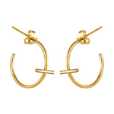 Mini Cross Hoop Earrings, Marcia Vidal - CultureLabel