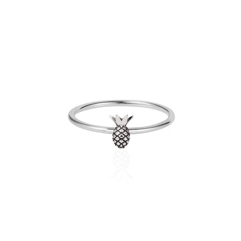 Tiny Pineapple Ring - Silver, Lee Renée