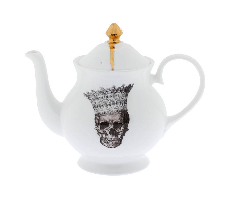 Skull in Crown Jubilee Teapot, Melody Rose - CultureLabel - 1