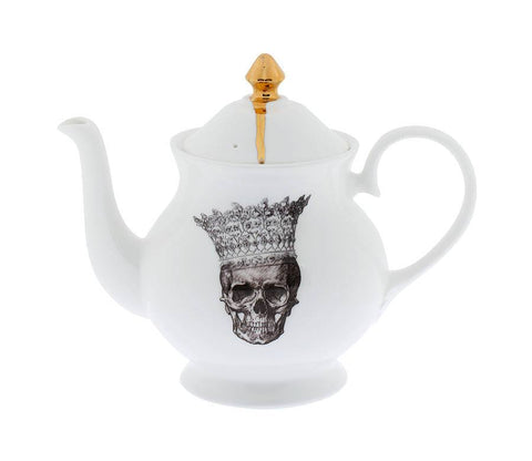 Skull in Crown Teapot, Melody Rose Alternate View
