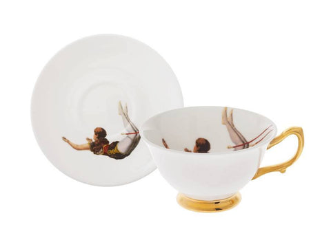 Trapeze Boy and Girl Tea Set of Two, Melody Rose Alternate View