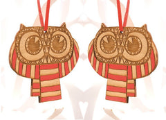 Owls in a Scarf Pair, Small Stories