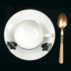 Panther Teacup and Saucer, Abi Overland Jersey Alternate View