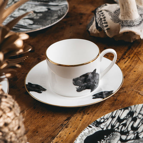 Panther Teacup and Saucer, Abi Overland Jersey
