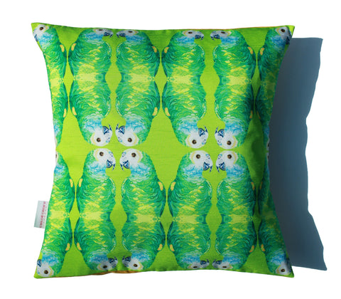 Parallel Parrots Cushion, Chloe Croft - CultureLabel