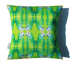 Parallel Parrots Cushion, Chloe Croft