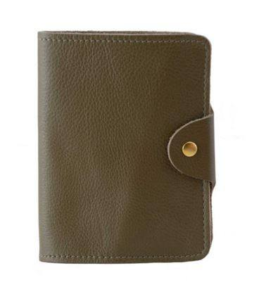 Passport Cover Olive Grain, N'Damus - CultureLabel
