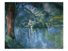 Cezanne - Le Lac D'Annecy Silk Chiffon Scarf, The Courtauld Gallery Alternate View
