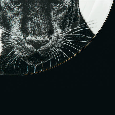 Peering Panther Dinner Plate, Abi Overland Jersey Alternate View