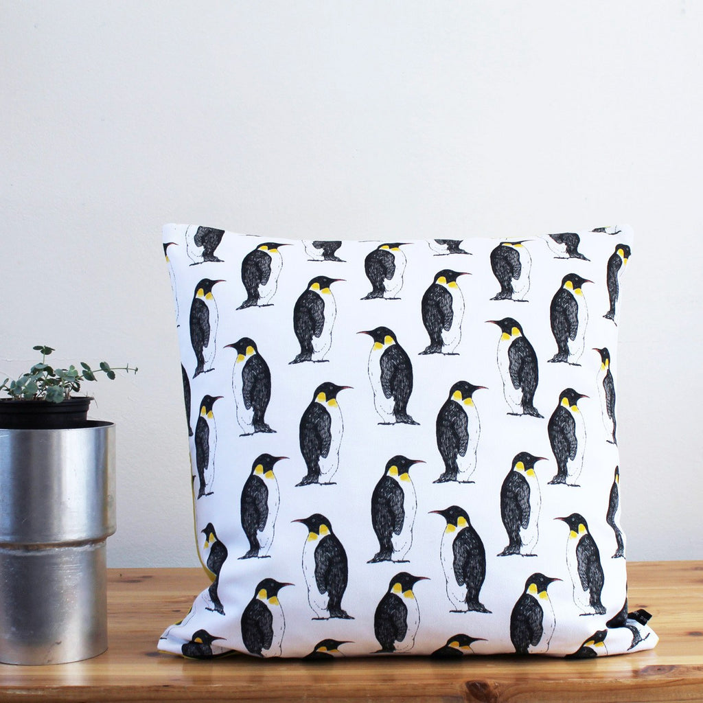 Penguin Party Cushion, Martha & Hepsie - CultureLabel - 1