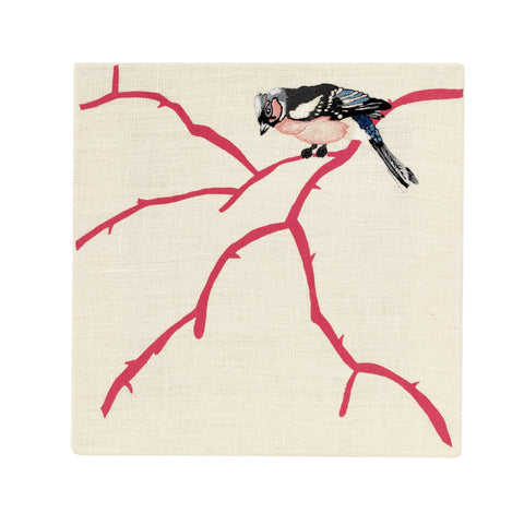 Bullfinch - Embroidered Picture, Fine Cell Work - CultureLabel