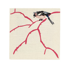 Bullfinch - Embroidered Picture, Fine Cell Work