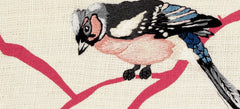 Bullfinch - Embroidered Picture, Fine Cell Work Alternate View