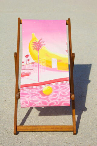 Banana (pink and yellow) Deckchair, Yoko Honda - CultureLabel - 1