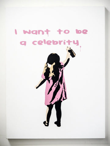 I Want to be a Celebrity - Canvas, Plastic Jesus - CultureLabel
