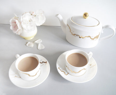 Thames Tea Set in Gold, Snowden Flood - CultureLabel