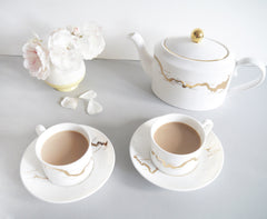 Thames Tea Set in Gold, Snowden Flood