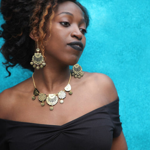Gypsy Siren Chandelier Earrings, Rosita Bonita Alternate View