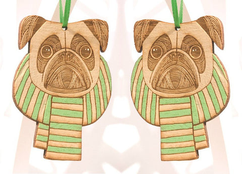 Pugs in a Scarf Pair, Small Stories - CultureLabel