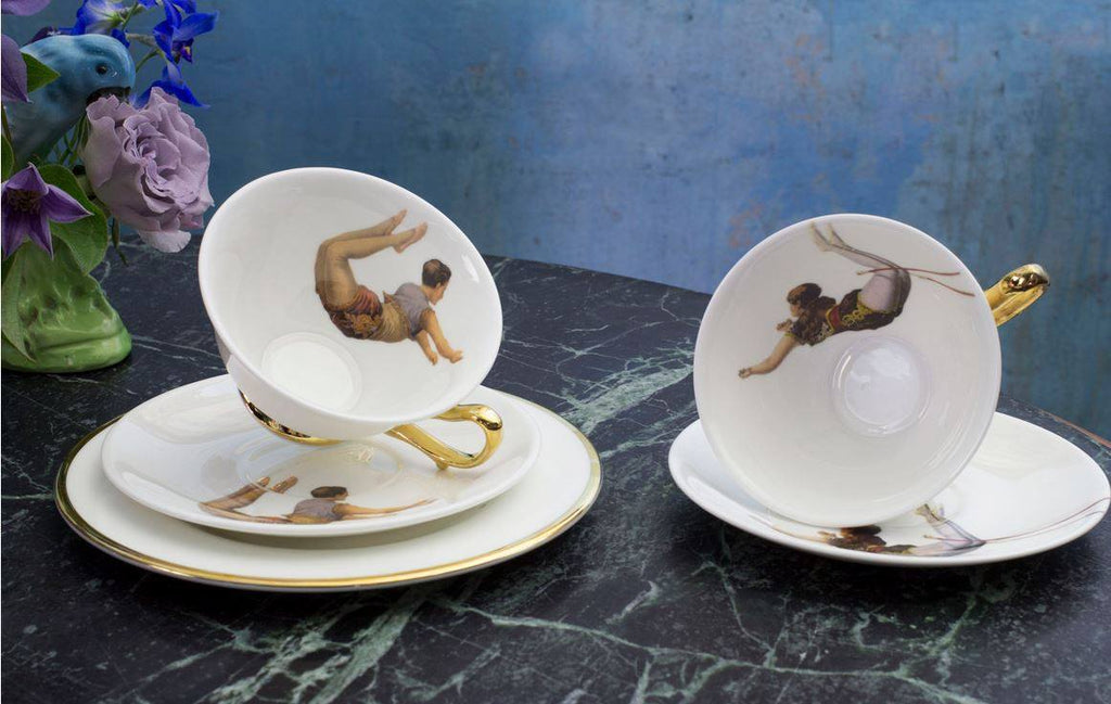 Trapeze Boy and Girl Tea Set of Two, Melody Rose - CultureLabel - 1