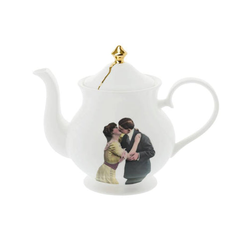 Kissing Couple Teapot, Melody Rose - CultureLabel - 1
