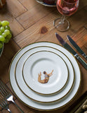 The Trapeze Boy Bone China Plate, Melody Rose - CultureLabel