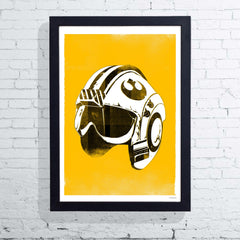 Star Wars Helmet - Red Five (Framed), The Designers Nursery