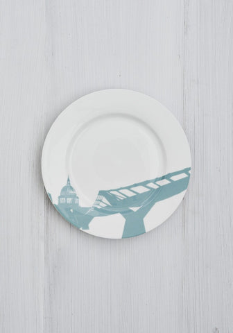 A Set of 6 River Series Dinner Plates, Snowden Flood Alternate View