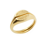 Sun & Moon Signet Rings - Gold Vermeil, No 13