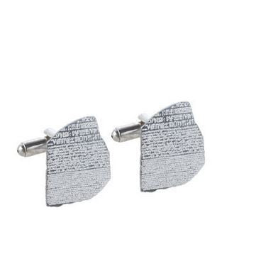 Rosetta Stone Cufflinks, British Museum Alternate View