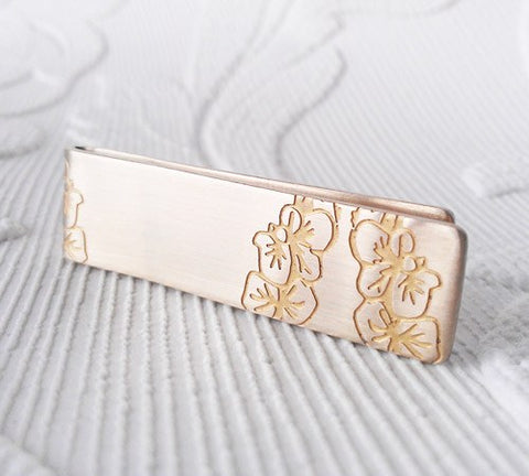 Brass Orchids MoneyClip, Sally Lees