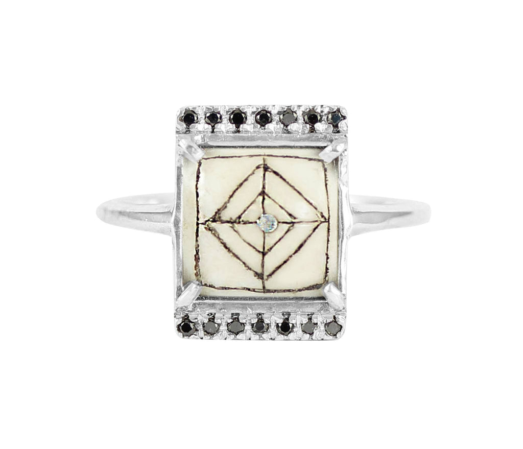 Sami Black Diamond Rectangle Ring, No 13 - CultureLabel - 1
