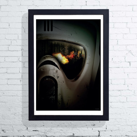 Visions of War - Scout Trooper (Framed), The Designers Nursery - CultureLabel