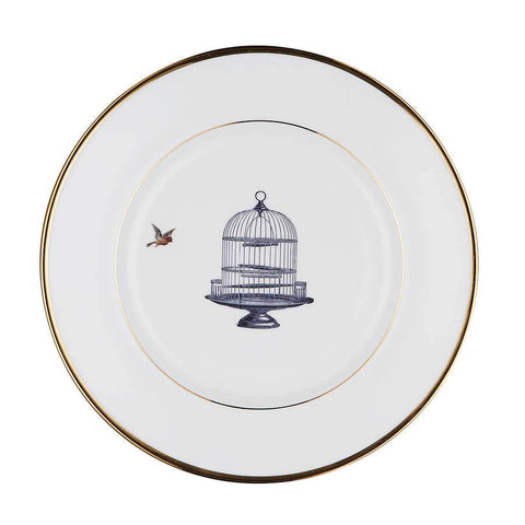 The Birdcage and The Bird Bone China Plate, Melody Rose - CultureLabel