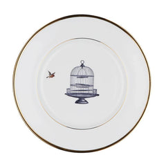 The Birdcage and The Bird Bone China Plate, Melody Rose