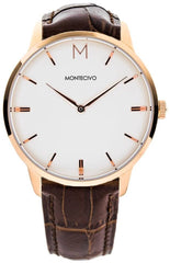 Signature Brown Leather Watch, Montecivo Watches