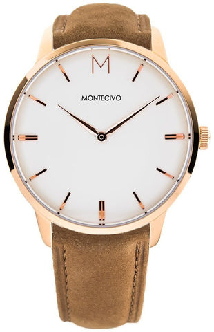 Signature Tan Suede Watch, Montecivo Watches