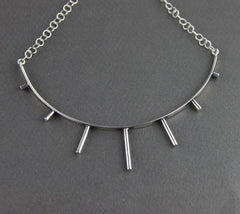 Silver Punk Sunshine Choker, Marcia Vidal Alternate View