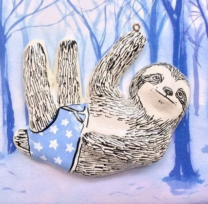 Bernard Sloth Christmas Tree Decoration, Jimbobart