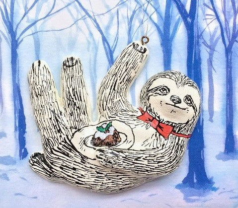 Theodore Sloth Christmas Tree Decoration, Jimbobart
