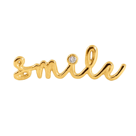 Smile - Diamond Single Slider Earring, Lee Renée