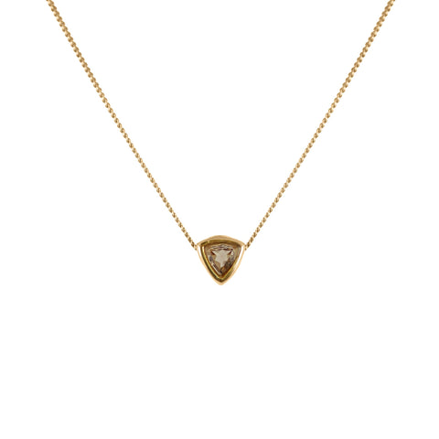 Smoky Quartz Trillion Cut Necklace, Lee Renée - CultureLabel - 1