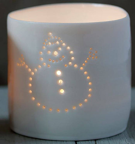 Noel Snowman Letter Minis Tealight Holder Set, Luna Lighting Alternate View