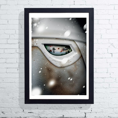 Visions of War - Snow Trooper (Framed), The Designers Nursery - CultureLabel