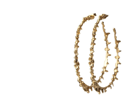 Spine Hoop Earrings, Lenique Louis - CultureLabel