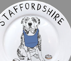 Staffordshire Bun Terrier Side Plate, Jimbobart Alternate View
